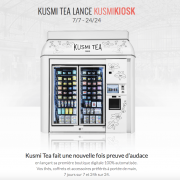 Le Kusmikiosk, nouvelle boutique digitale de Kusmi Tea