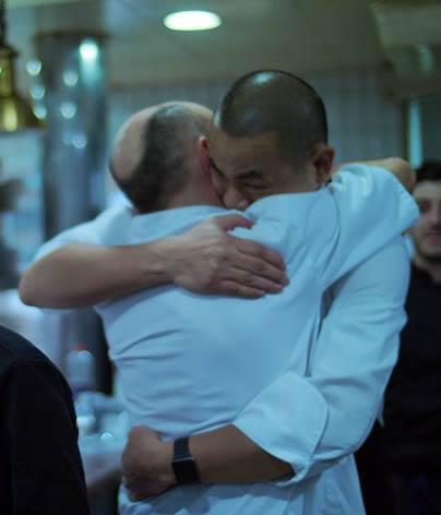 Les chefs laurent et André … grand moment d'émotion