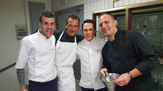 Marc-Antoine, le chef pâtissier du Jardin des Sens … Les chefs olivier Bontemps, Romain Salamone, Christophe Lerouy