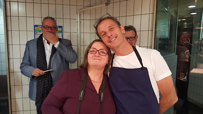 Sophie Brissaud ( La petite Cuillère ) et le chef Thierry Alix