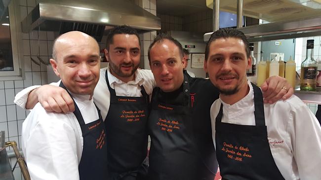 Les chefs laurent Pourcel, Clément Bonano, Christophe Lerouy et Nicolas Faujanet
