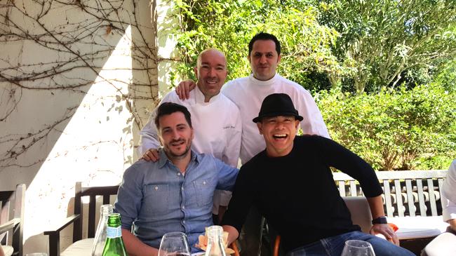 Les chefs Jacques Pourcel, Guillaume Galliot, Wilfrid Hocquet, André Chiang