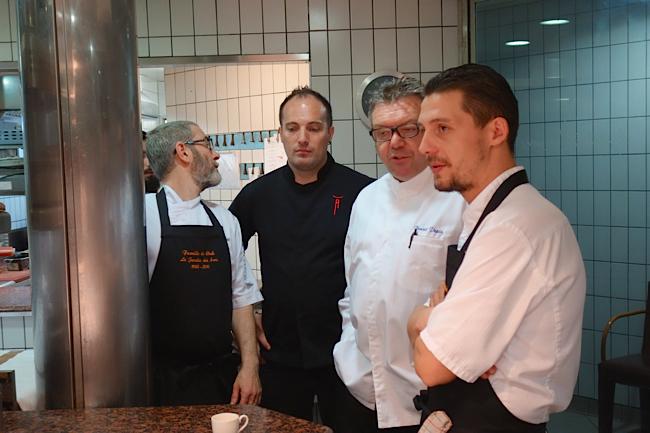 Les chefs Frédéric Cartier, Christophe Lerouy, Benoît Pépin et Nicolas Faujanet