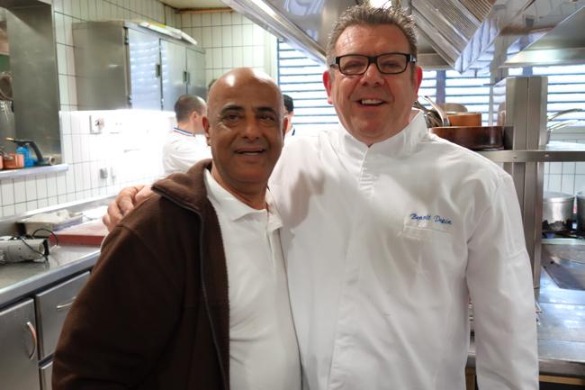 Farid et le chef Benoît Pépin