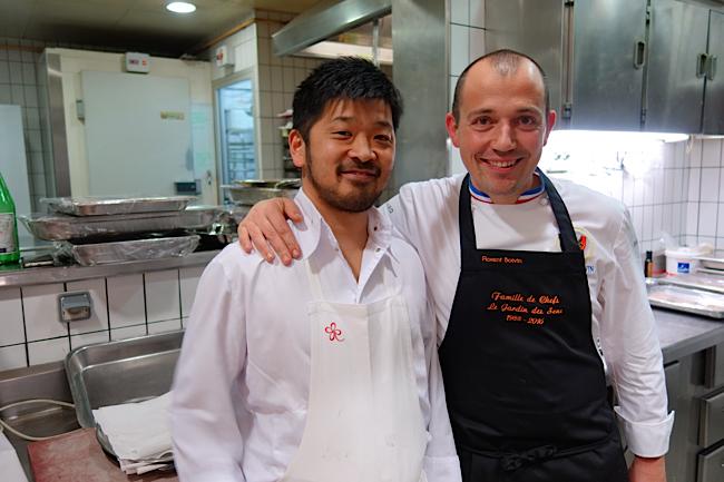 Le chef keisuké Matsushima et le chef Florent Boivin