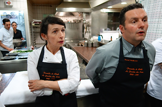 Le chef David Mollicone et la chef Nathalie Richin