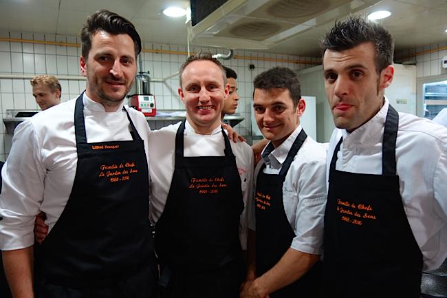 Wilfrid Hocquet et l'équipe de pâtissiers, Jean-Christian, Julien et Marc-Antoine