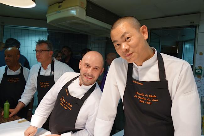 les chefs Julien Lavigne et André Chiang