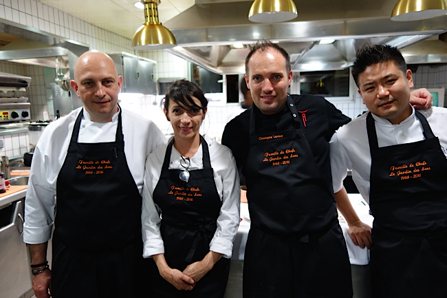 Les chefs Thierry Rousset, Nathalie Richin, Christophe Lerouy et Johnny