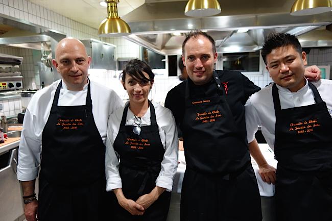 Les chefs Thierry Rousset, Nathalie Richin, Christophe Lerouy et Johnny