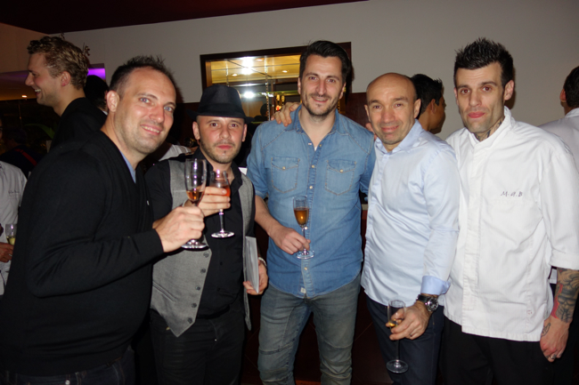 Christophe, Julien, Wilfrid, le chef Laurent Pourcel, Marc-Antoine