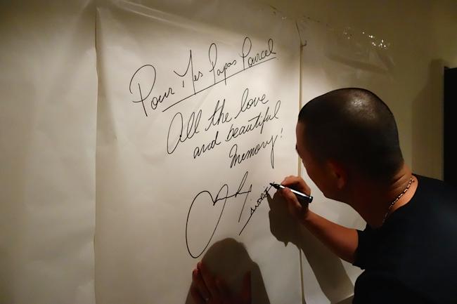 André Chiang à la signature