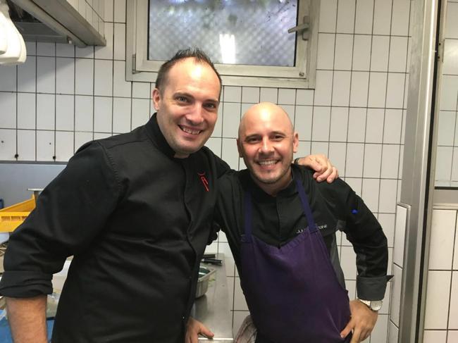Les chefs Christophe Lerouy et Julien Lavigne
