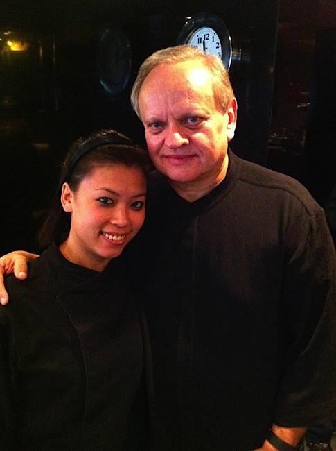 Avec le chef Joël Robuchon à Hong Kong