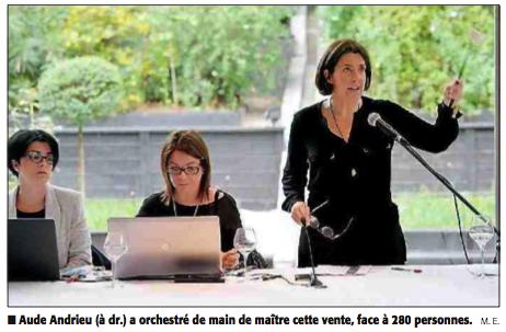 Photo Midi Libre - Aude Andrieu au marteau !