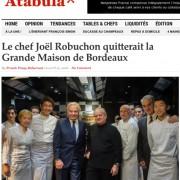 Avec le retrait du chef Robuchon de » La Grande Maison » à Bordeaux, c'est tout l'avenir de la gastronomie haut de gamme et la course aux étoiles qui sont remis en cause