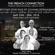 Jakarta – Mai 2016 – La  » French Connection  » en cuisine remet le couvert