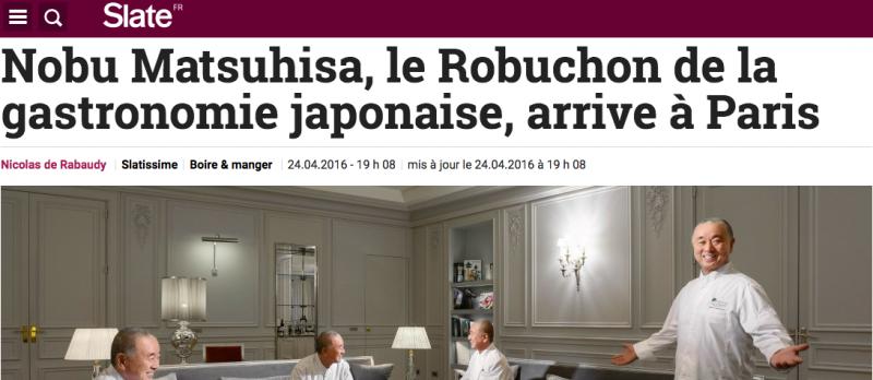 SLATE - Les chefs français un exemple….