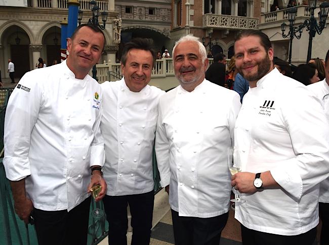 Olivier Dubreuil, Daniel Boulud, Guy Savoy et Julien Asseo