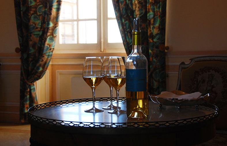Cyprès-de-climens, le délicieux second vin de Château-Climens, en dégustation au château.