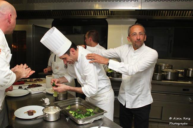 Le chef Franck Séguret et le chef Marseillais Michel Portos