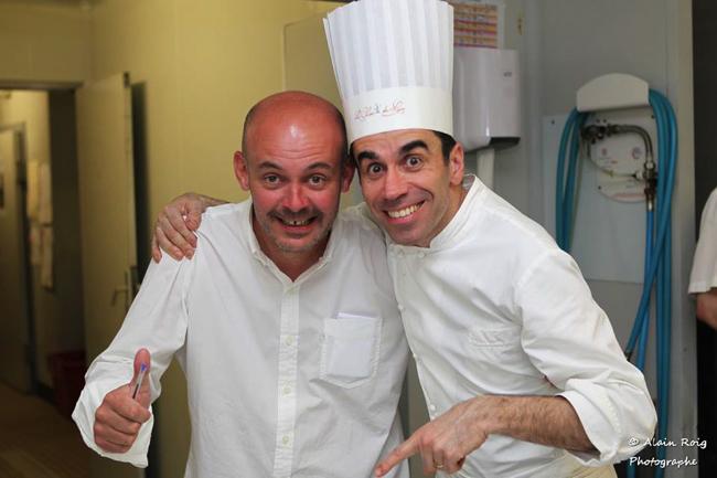 Le chef Alexandre Bourdas et le chef Franck séguret