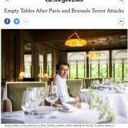 Le New York times indique que depuis les attentats de Paris les grandes tables sont vides … » Il est temps de revenir à Paris ! «