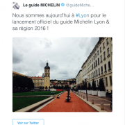 Première édition régionale d'un guide Michelin d'une ville et sa région : Lyon ouvre le bal
