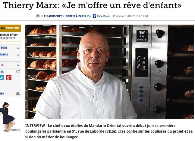 Thierry Marx Figaro