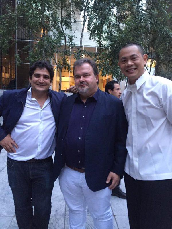 les chefs Mauro Colagreco, Pierre Hermé et André Chiang