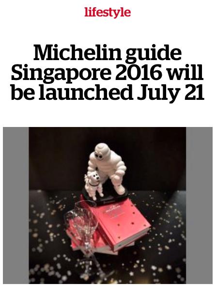 Michelin singapour