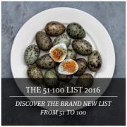 8 Restaurants français classés dans la deuxième série du Fifty Best 2016 ( 51ème à 100ème place )
