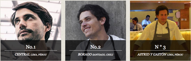 50 Best Amérique Latine