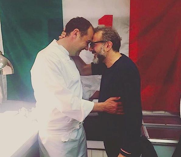 Avec le chef italien Massimo Bottura