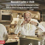 Demain au déjeuner, vous pourrez suivre un service en direct des cuisines du Georges V avec le chef Christian Le Squer via Facebook