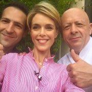 Thierry Marx a rejoint Julie Andrieu pour le tournage des nouveaux » Carnets de Julie «