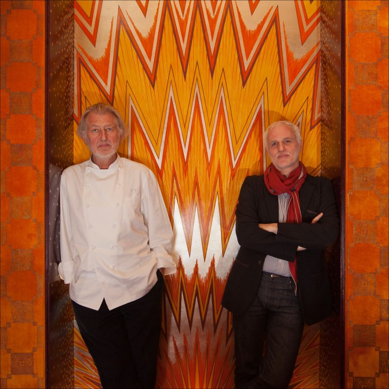 Le chef Pierre Gagnaire et Mourad Mazouz du Sketch à Londres