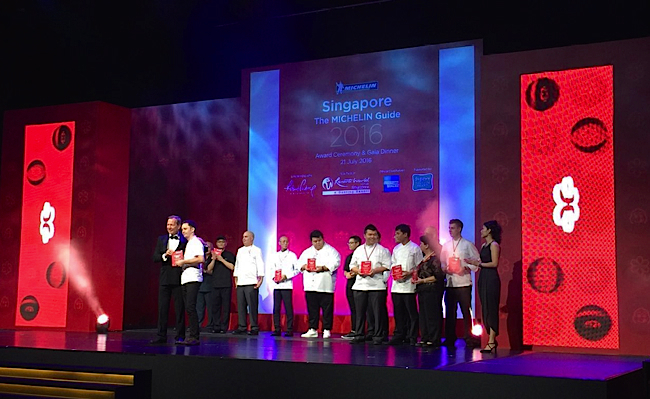 Guide Michelin Singapour 2016