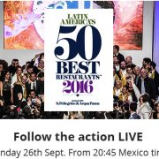 La proclamation des – Latin America's 50 Best Restaurant 2016 – se déroule cette nuit à Mexico