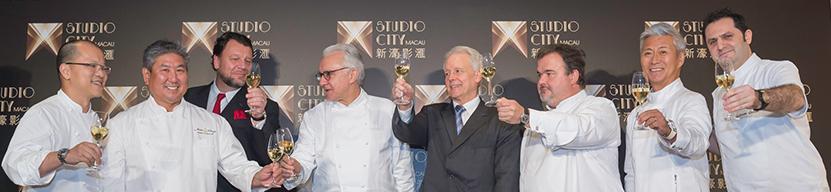 Les chefs Présents en 2015 pour l'ouverture du Casino Studio City