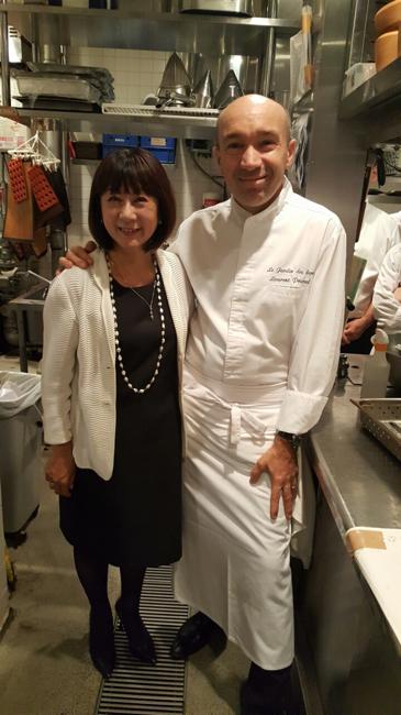 Le chef Laurent Pourcel accompagné de Madame Hiramatsu
