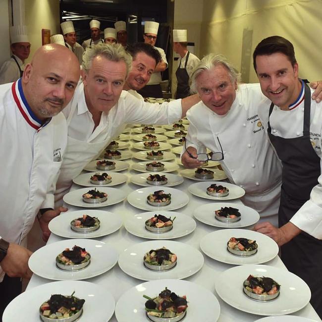 Philippe mille a r uni 5 chefs et 11 toiles pour un d ner for La cuisine de philippe menu