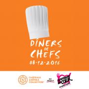 Le 8 décembre prochain les chefs » Châteaux & Hôtels Collection » cuisineront au profit des Restos du Coeur