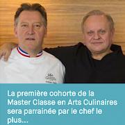 L'Ecole hôtelière de Lausanne aura sa – Master Classe en Arts Culinaires – parrainée Par Joël Robuchon