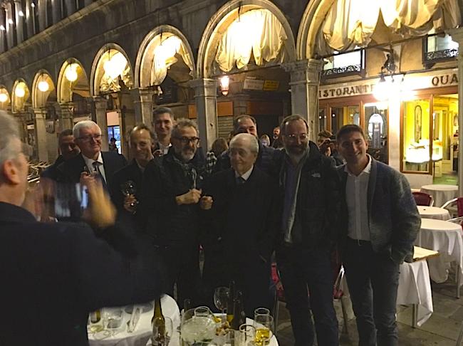Les chefs italiens avant le dîner de gala