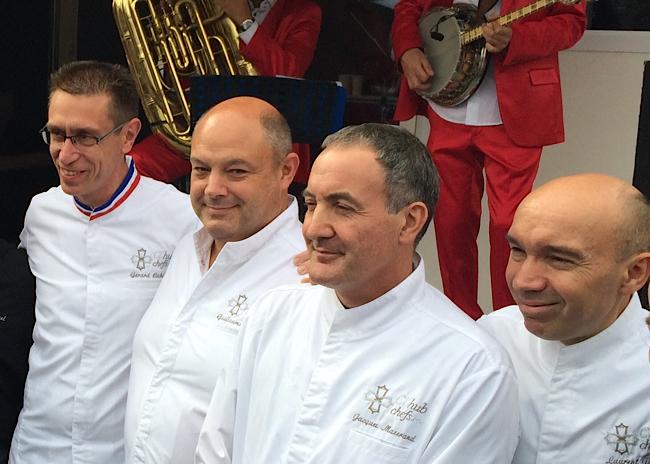 Les chefs G. Cabiron, G. Despond, J. Mazerand, L. Pourcel