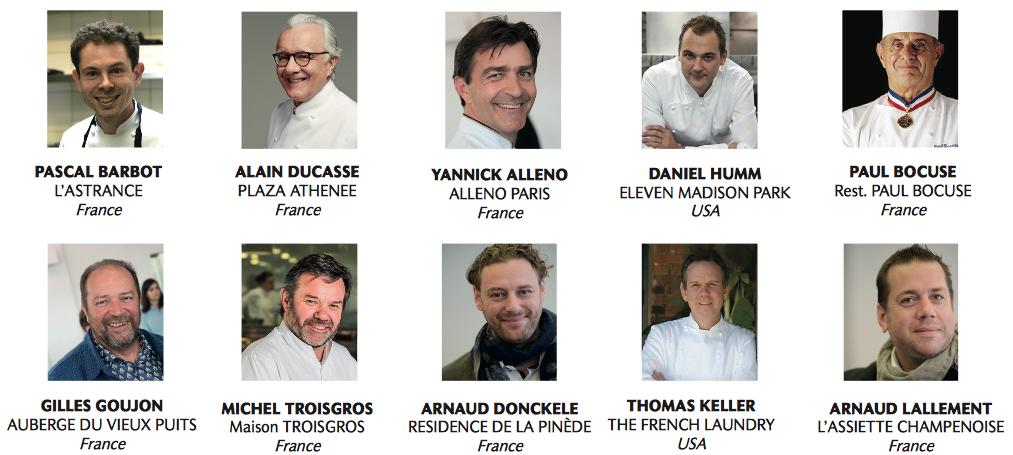 Les Classement Des Chefs Par Le Magazine LE CHEF Alain - Classement meilleur cuisine du monde