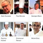 Classement de popularité sur le Web pour les chefs 11/2016 … ça bouge en tête, le chef Cyril lignac en première place, devant Ducasse et Bocuse.