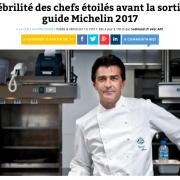 Michelin 2017 – La presse s'active … 70 établissements gagnent des étoiles, 52 en perdent !