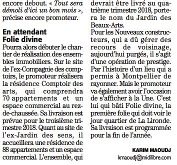 Montpellier l 39 ex jardin des sens les pelles m caniques - Montpellier jardin des sens ...